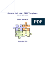 Generic ISO 14001 EMS Templates