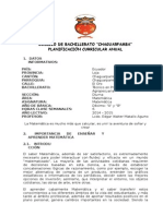 Planificacion Curricular 10mo. Año (m)