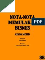 Nota Memula perniagaan - Ainon
