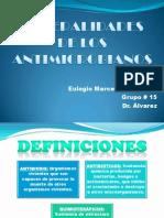 Generalidades de Los Antimicrobianos