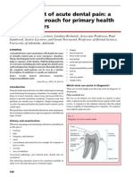 R Management of Acute Dental Pain TH 2001