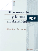 Movimiento y Forma en Aristoteles - Carbonell, Claudia