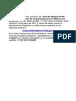 Guia de Agrupacion de Proyectos de Saneamiento Para La Certificacion Ambiental