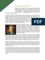 Biografía de Leonard Euler
