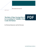 Baumeister - The Role of Time-Varying Price Elasticities in Accounting for Volatility Changes in the Crude Oil Market