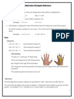 multiplication strategies reference