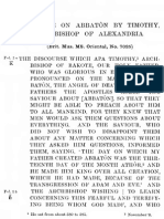 Discourse on Abbaton by Timothy Archbishop of Alexandria