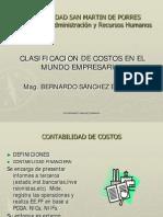 Clasificacion de Los Costos en La Organizacion Empresarial