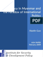 Democracy in Myanmar and the Paradox of International Politics