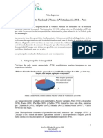 Victimizacion Encuesta Nacional Urbana 2011 Nota
