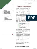Initiation à MATLAB - Équations Différentielles