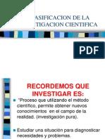 Clasificacion de La Investigacion Cientifica