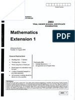 HSC Mathematics Extension One CSSA Trial