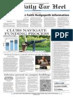 The Daily Tar Heel for September 5, 2014