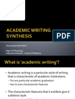 Elective Study - Synthesis