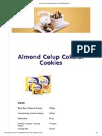 Almond Celup Cokelat Cookies