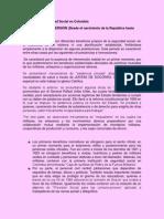 Resumen Historia Seguridad Social en Colombia