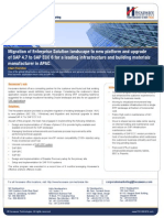 Casestudy MFG SAP Upgrade 47 to SAP ECC 6 for a Leading Infrastructure and Building Materials Manufacturer in APAC
