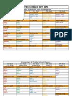 2014-2015 fall schedule - pdf 9-5