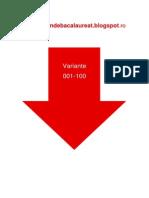 Matematica  M1- Subiectul I cu 100 de variante din 2009