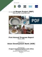 Bhutan Biogas Project First Annual Progress Report 2012