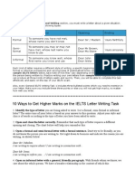 IELTS Letters; Different Styles, Different Topics