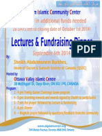 fundraising dinner and program - sep 06th 2014