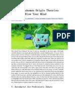 7 Crazy Pokemon Origin Theories That'Ll Blow Your Mind - GameBasin.com
