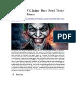 10 Batman Villains That Need Their Own Video Games - GameBasin.com