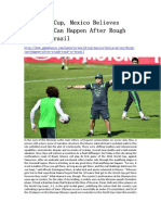 In World Cup, Mexico Believes Anything Can Happen After Rough Road to Brazil - GameBasin.com