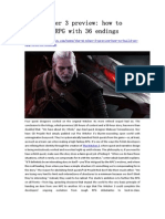 The Witcher 3 Preview - How to Build an RPG With 36 Endings - GameBasin.com