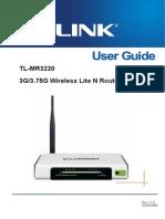 TL-MR3220 User Guide