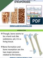 Ayurvedic Treatment of Osteoporosis