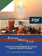 II Codigo de Procedimientos Civiles d.f