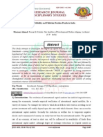Capital Mobility and Feldstein Horioka Puzzle in India