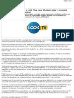 CNA - Proprietarii Look TV Şi Look Plus, Care Difuzează Liga 1, Lansează Serviciul Video La Cerere Koolnet
