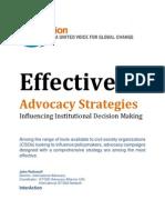 Advocacy Strategy Manual