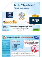 Teaching with Moodle
