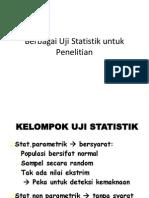 Berbagai Uji Statistik Untuk Penelitian.
