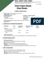 Ballotini Glass Bead MSDS