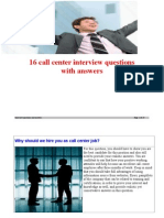 16 callcenter interview questions and answers