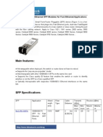 Cisco 100BASE-X Ethernet SFP Modules for Fast Ethernet Applications