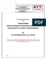 MS for SFRA and C & TD of Transformer
