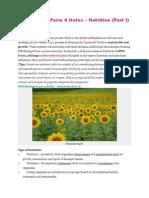 SPM Biology Form 4 Nutrition Notes