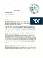 Apuron vs Benavente. 2014.09.15 Letter From Family of Msgr James