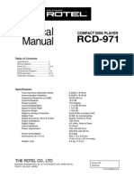 Rotel RCD-971 Technical Manual