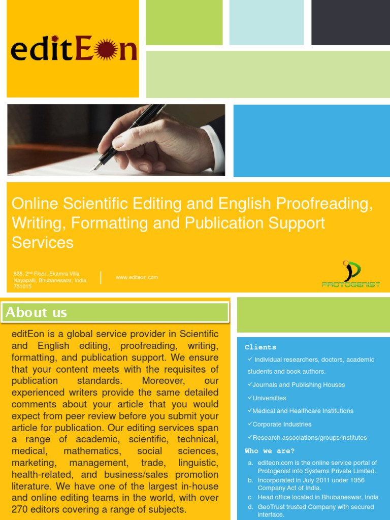Scientific journal editing service