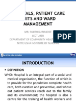 Hospitals Patient Care Units and Ward Management