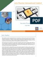 Navin Flourin NFIL Investor Presentation July14