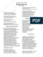 Wallace Stevens Poems